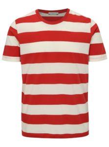 Bielo-červené pruhované tričko Selected Homme The Perfect