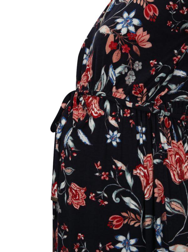 c4ce337ff740 Tmavomodré kvetované tehotenské maxišaty Dorothy Perkins Maternity ...