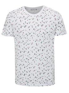 Biele vzorované tričko Selected Homme Sum
