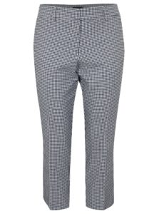 Bielo–modré skrátené kockované nohavice Dorothy Perkins Curve