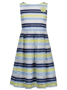 Žlto-modré pruhované šaty 5.10.15.