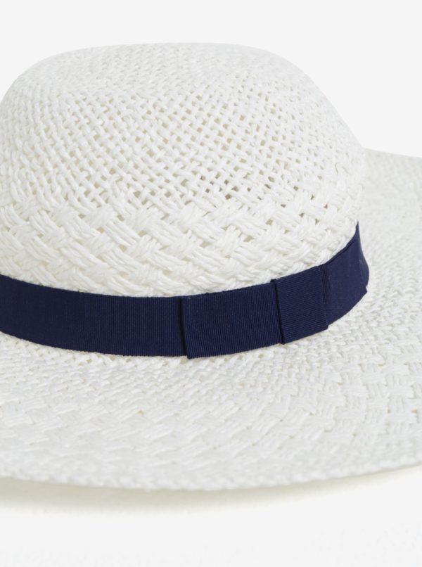 Biely klobúk s modrou stuhou Dorothy Perkins