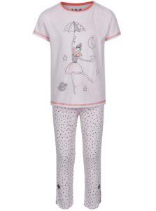 Svetloružové vzorované dievčenské pyžamo 5.10.15.