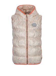 Marhuľová vodovzdorná prešívaná vesta s kapucňou 5.10.15.