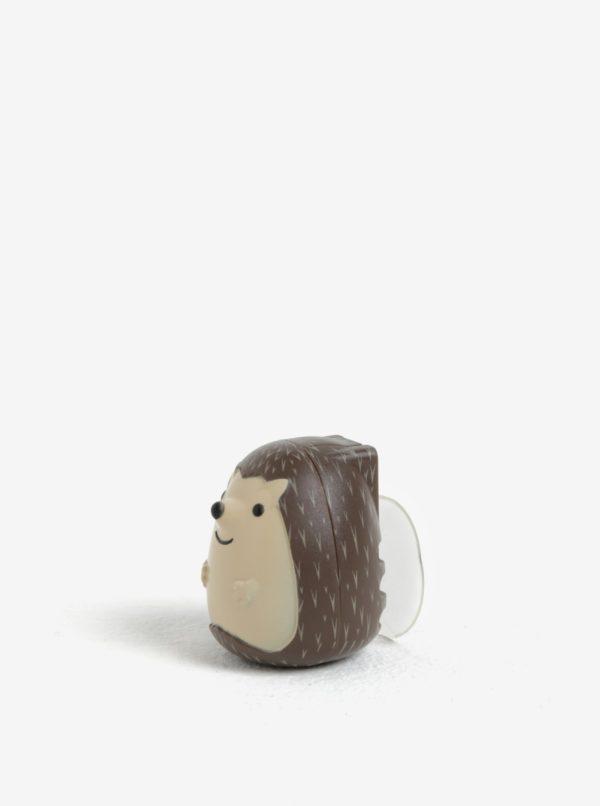 Hnedý držiak na zubnú kefku Kikkerland Hedgehog