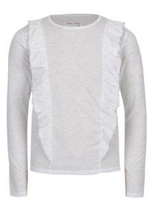 Biele melírované dievčenské tričko s volánmi 5.10.15.