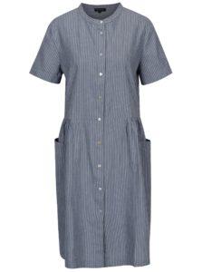 Sivo–modré pruhované šaty Selected Femme Rose