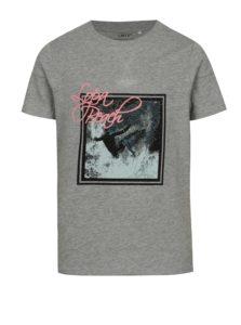 Sivé chlapčenské tričko s potlačou LIMITED by name it
