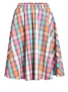 Ružovo-sivá kockovaná sukňa Blutsgeschwister