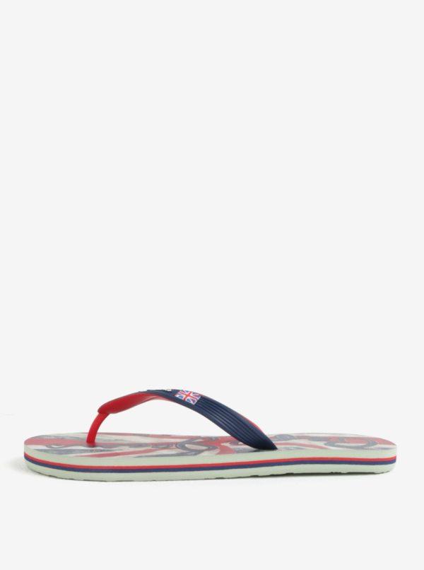 Červeno-modré pánske žabky Pepe Jeans Hawi flag