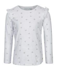 Biele vzorované dievčenské tričko s dlhým rukávom 5.10.15.