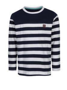 Bielo-modré chlapčenské pruhované tričko s dlhým rukávom 5.10.15.