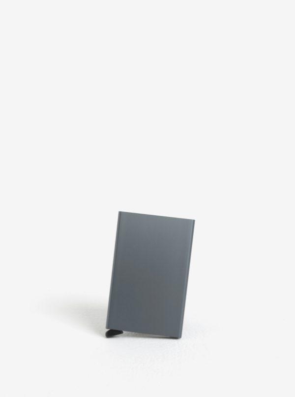 Sivé hliníkové puzdro na karty s RFID tienením Secrid Cardprotector