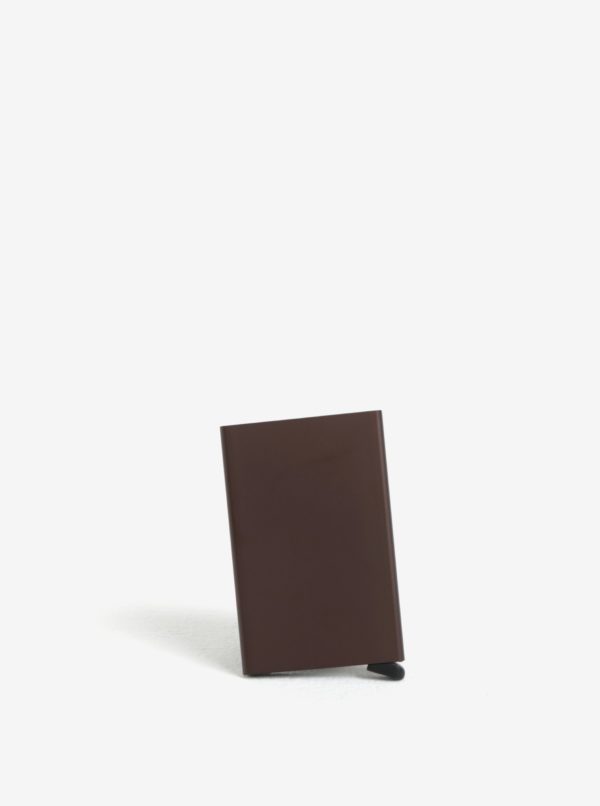 Hnedé hliníkové puzdro na karty s RFID tienením Secrid Cardprotector
