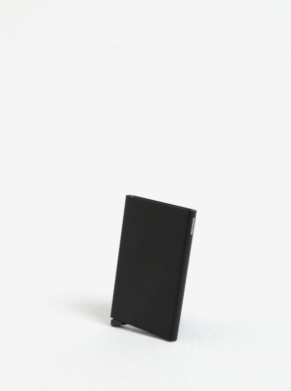 Čierne hliníkové puzdro na karty s RFID tienením Secrid Cardprotector