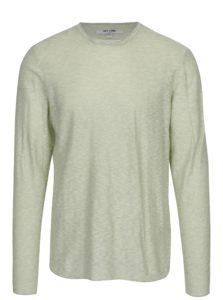 Zelený melírovaný tenký sveter ONLY & SONS Paldin
