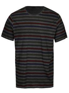 Tmavosivé pruhované tričko ONLY & SONS Sune