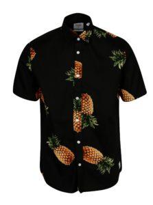 Čierna vzorovaná slim košeľa s krátkym rukávom ONLY & SONS Cool