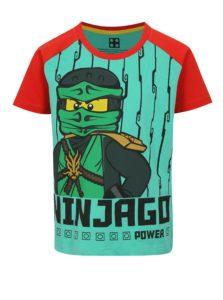 Červeno-zelené chlapčenské tričko s potlačou Lego Wear