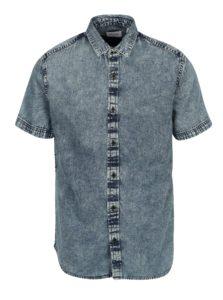 Modrá rifľová slim košeľa ONLY & SONS Nathan