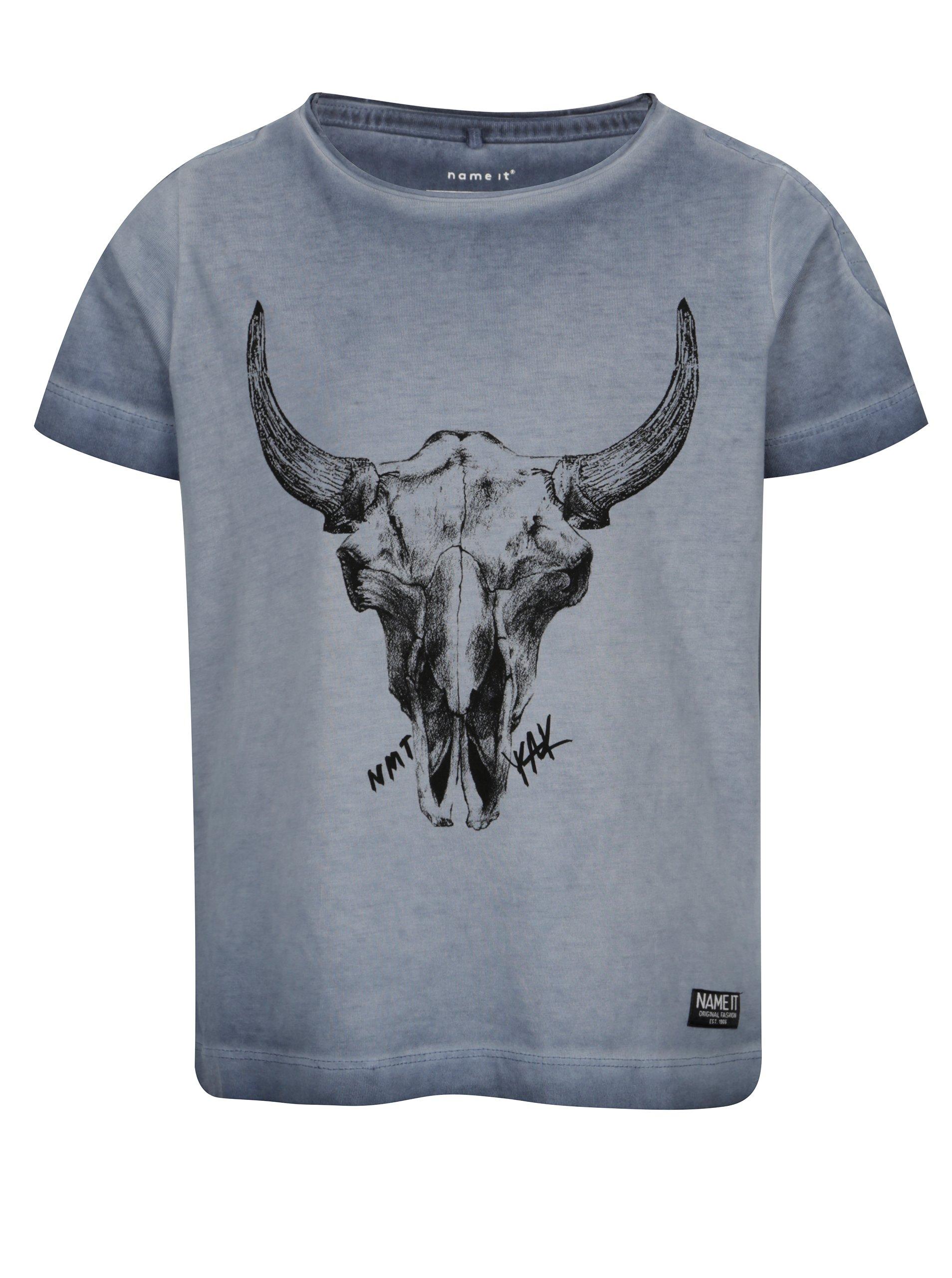 f6e942502c81 Modré chlapčenské tričko s potlačou name it Kaspar