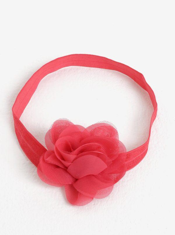 Červená dievčenská čelenka s kvetinkou name it Facc-Jonori