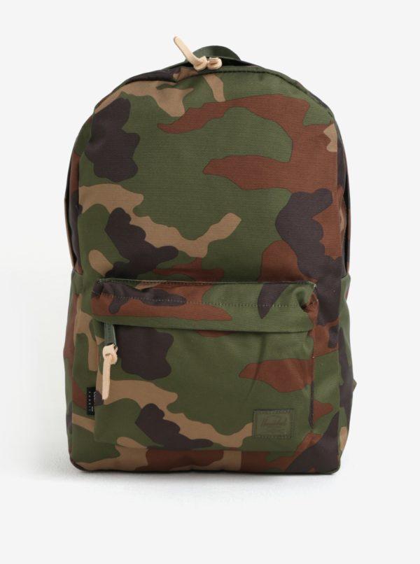 Hnedo–zelený maskáčový batoh Herschel Winlaw 22l