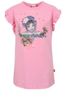 Ružové dievčenské tričko s volánmi Lego Wear Tillie