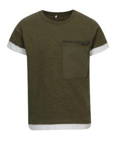 Zelené chlapčenské tričko s vreckom name it Jimmy