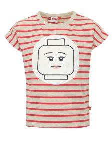 Ružovo-sivé dievčenské pruhované tričko Lego Wear Tanya