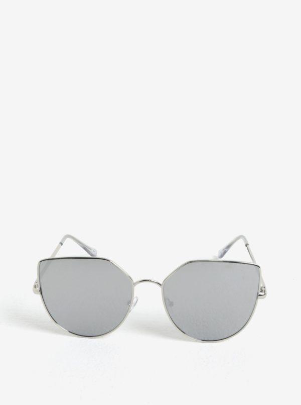 Dámske hranaté slnečné okuliare v striebornej farbe Jeepers Peepers