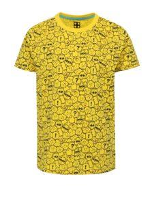 Žlté chlapčenské vzorované tričko Lego Wear