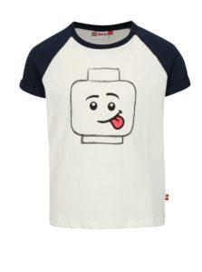 Modro-biele chlapčenské tričko s potlačou Lego Wear Thomas