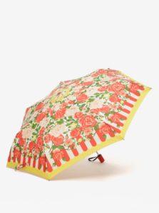 Žlto-červený kvetovaný dáždnik Blutsgeschwister