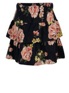 Tmavomodrá kvetovaná sukňa name it Vigga