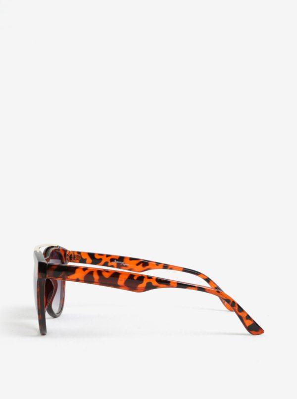 Hnedé dámske slnečné okuliare so zvieracím vzorom Jeepers Peepers