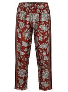 Červené skrátené vzorované nohavice s elastickým pásom Scotch & Soda