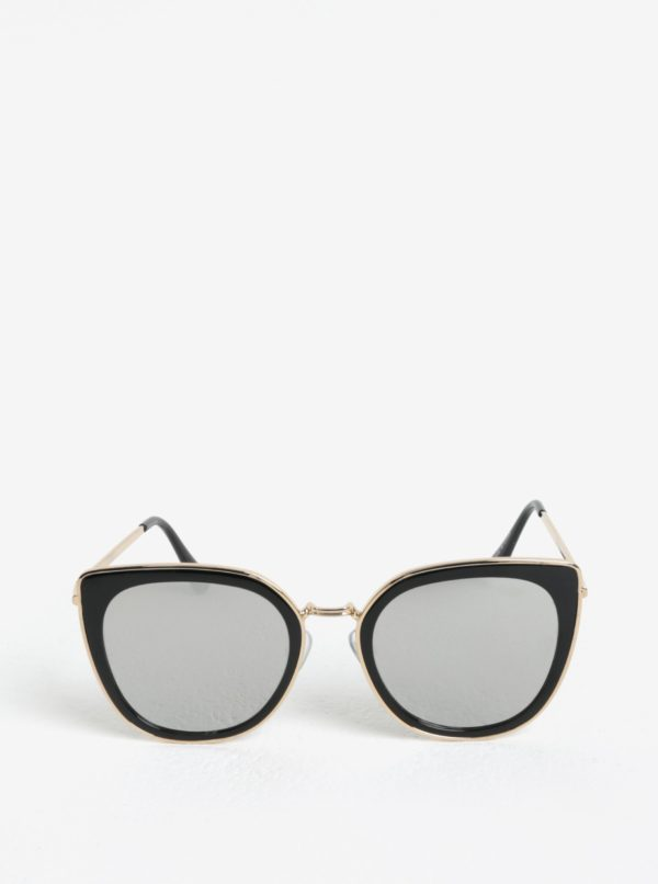 Čierne dámske slnečné okuliare s detailmi v zlatej farbe Jeepers Peepers