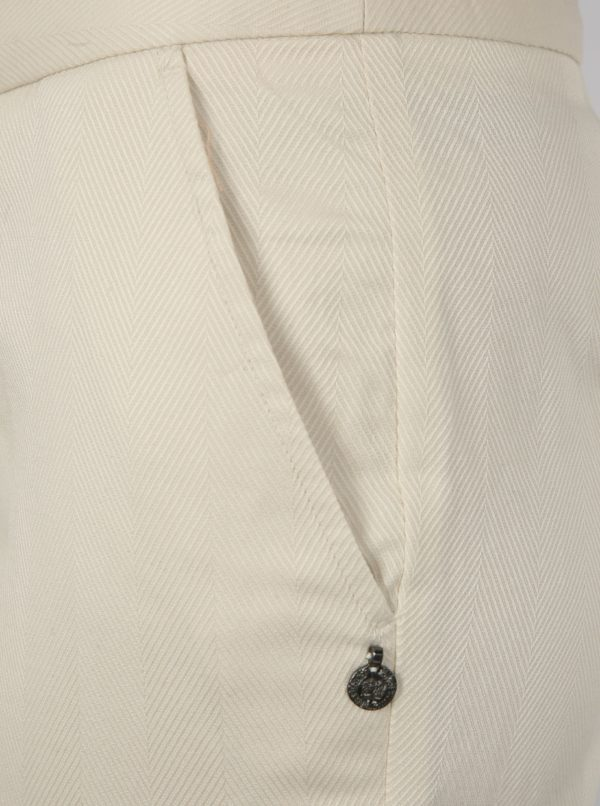 Béžové nohavice s vysokým pásom Scotch & Soda