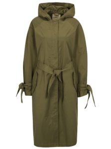 Kaki dlhá bunda s opaskom a kapucňou Scotch & Soda