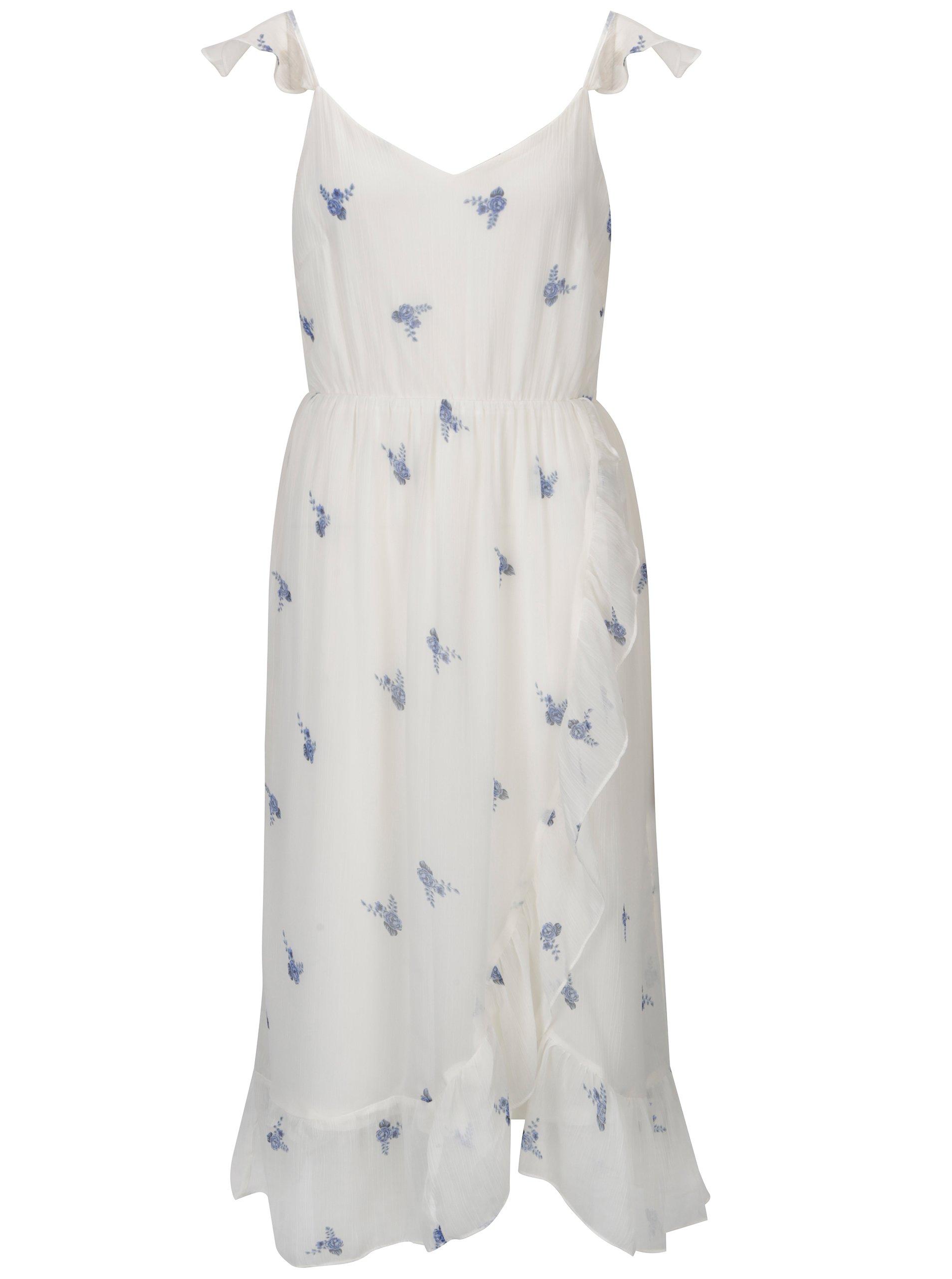 52c62e15d4 Biele kvetované šaty VERO MODA Danni
