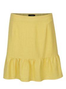 f5adb72afcce Žltá ľanová sukňa VERO MODA Asta