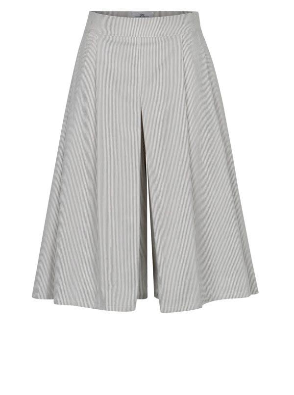 Bielo-sivé pruhované culottes SEVERANKA