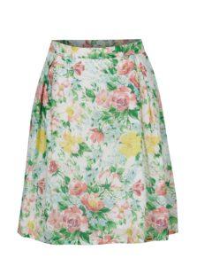 Zelená kvetovaná sukňa SEVERANKA