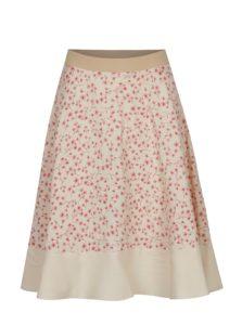Béžová vzorovaná sukňa SEVERANKA