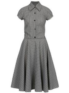 Modro-sivé kockované košeľové šaty SEVERANKA