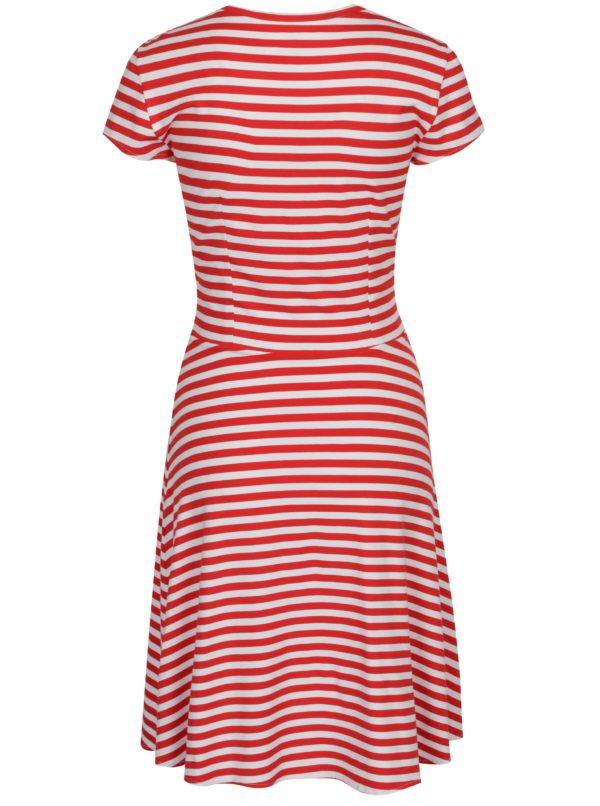 d1009615e0e8 Bielo-červené pruhované šaty SEVERANKA