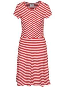 1a9fecaba1b Bielo-červené pruhované šaty SEVERANKA