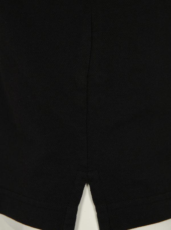 Čierna slim fit polokošeľa GANT