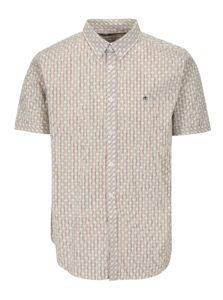 Krémová vzorovaná košeľa s krátkym rukávom Merc